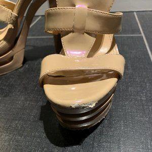 Gianni Bini Shoes - Gianni Bini Calypso Iridescent Nude Platforms